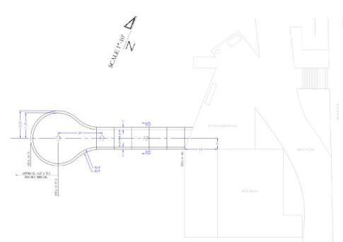 這是一張規劃步道的設計圖,包含了丈量單位等細節 Courtesy of Manhattan Beach Public Works。