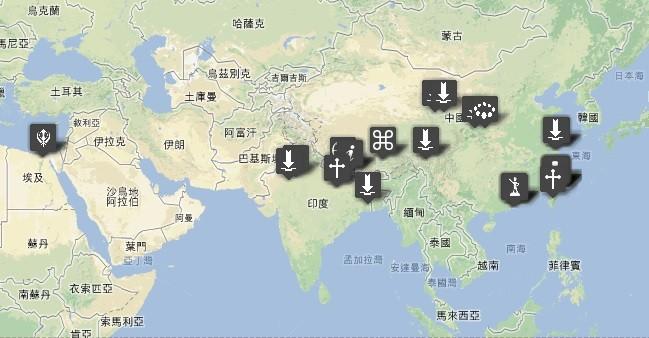 黃威愷與詹益昇的旅行足跡(尋找一個公平的夢提供)。