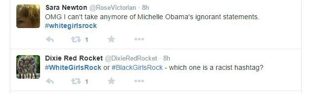 (網路截圖/今年的 Black Girls Rock 結束後,推特上也出現了#whitegirlsrock 標籤。)
