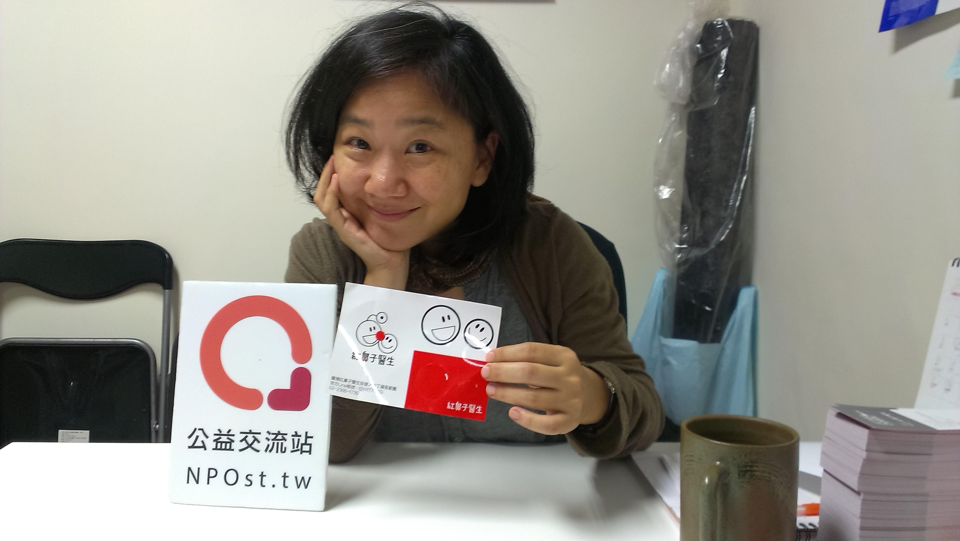 台灣紅鼻子醫生的創辦人、沙丁龐客劇團的藝術總監馬照琪(NPOst公益交流站攝影)