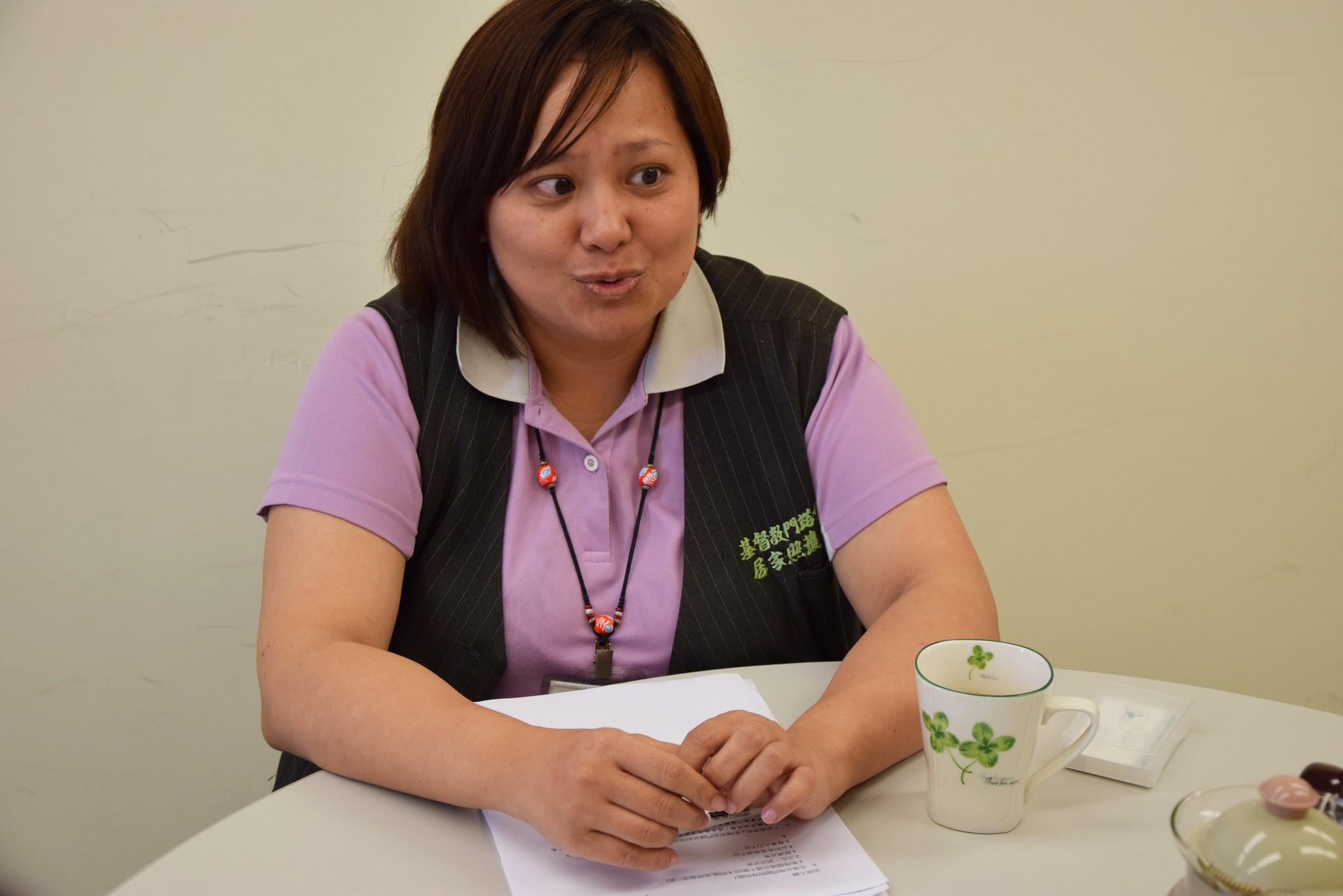 門諾醫院長期照護部的戴玉琴主任(攝影:吳易珊)