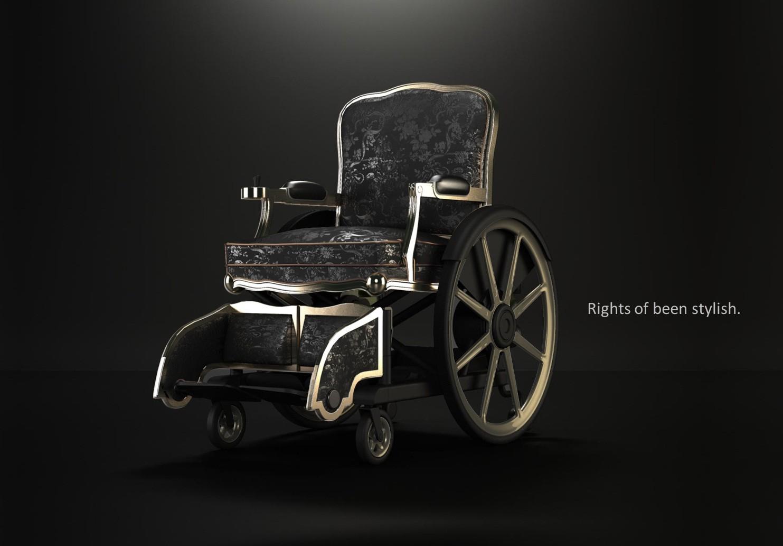 輪椅能否也是時尚配件?(照片來源:楊玉欣立委辦公室)