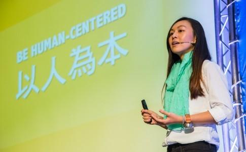 One Forty四十分之一共同創辦人吳致寧,於2015「變身吧!公益」年會演講。(攝影:MISC. 科學與人文記錄)