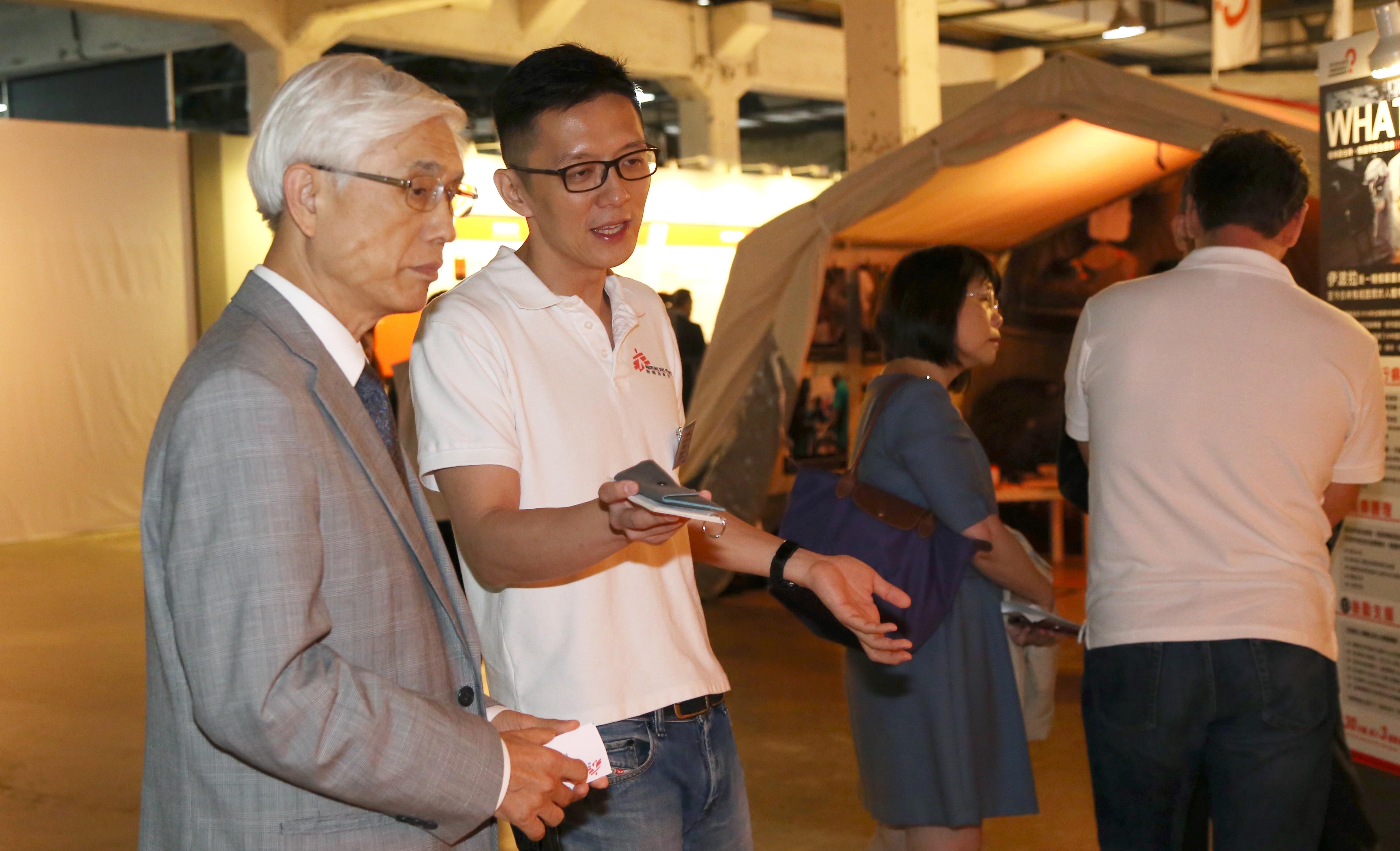 林奏延教授與香港無國界醫師主席劉鎮鯤
