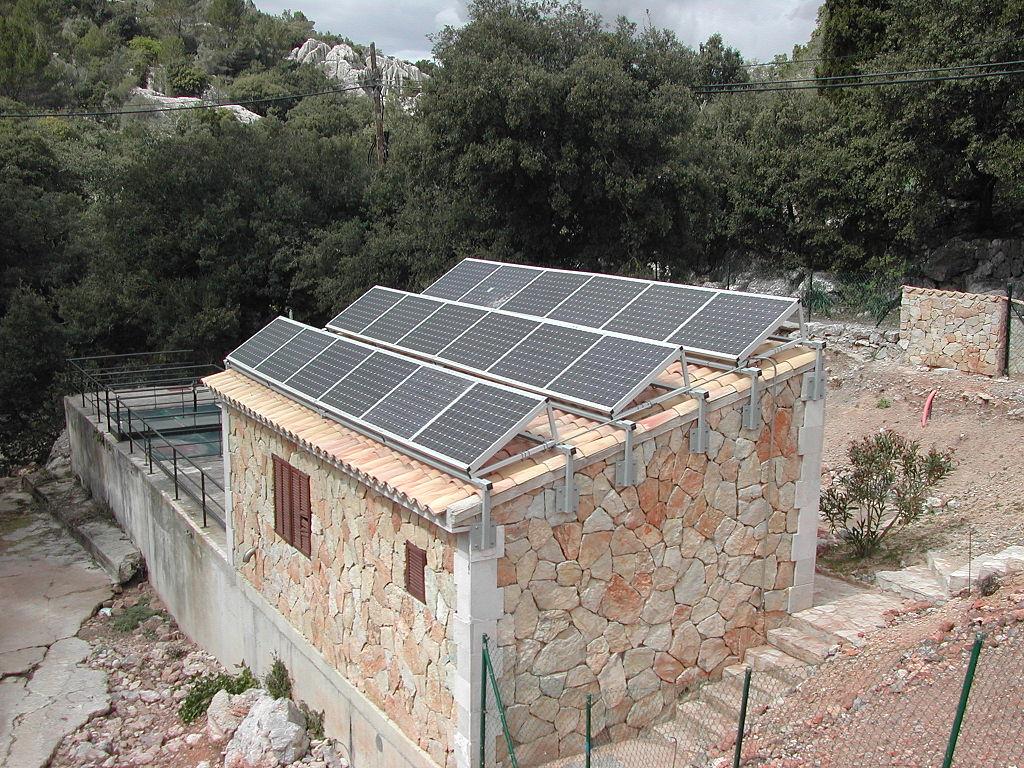小規模的太陽能汙水處理廠