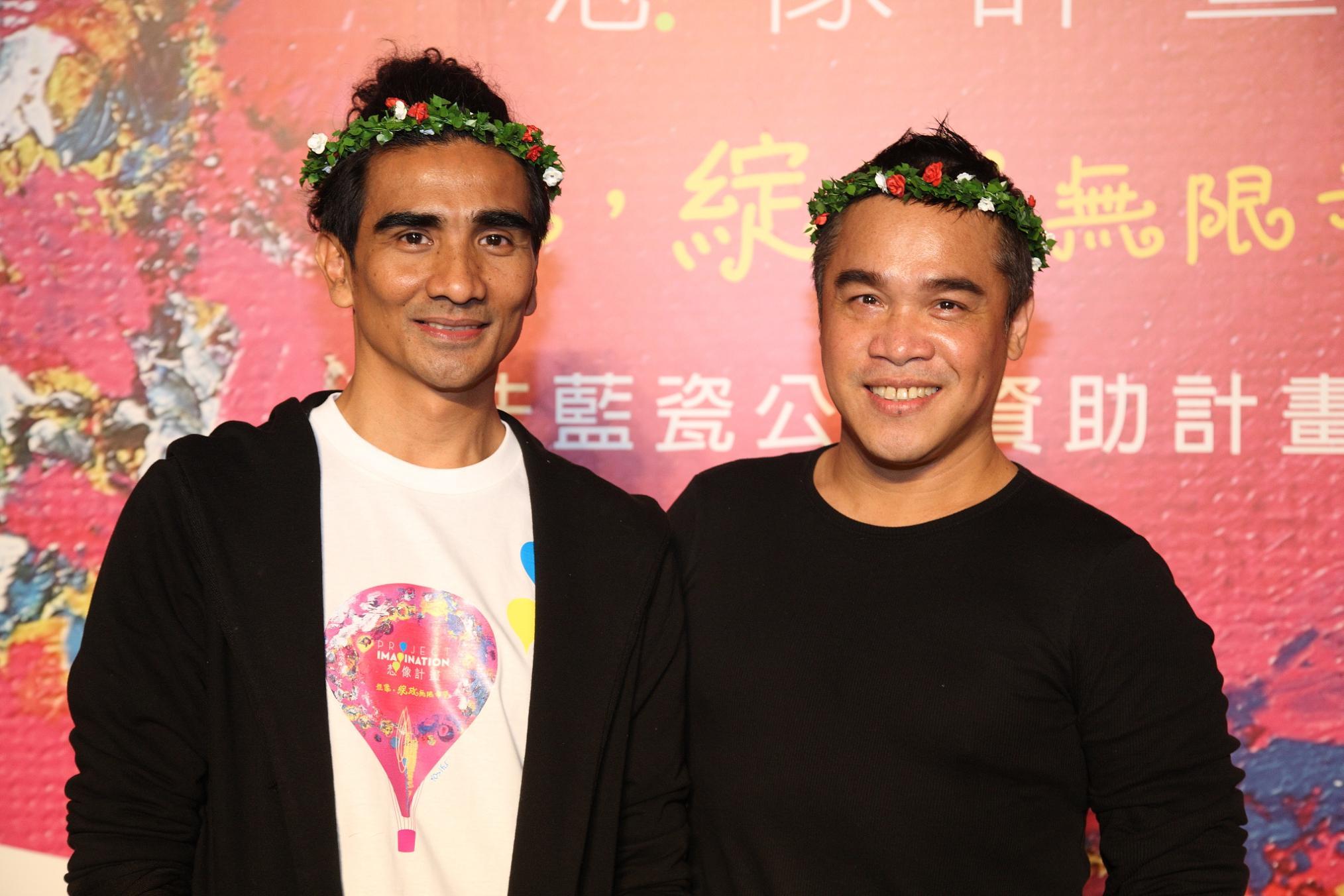 第四屆想像計畫大使-布拉瑞揚(圖左)與優席夫(圖右)合影