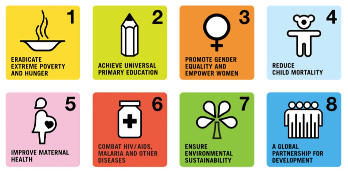 千禧年發展目標(MDGs) 資料來源:The Millennium Development Goals Report 2015 Press Kit