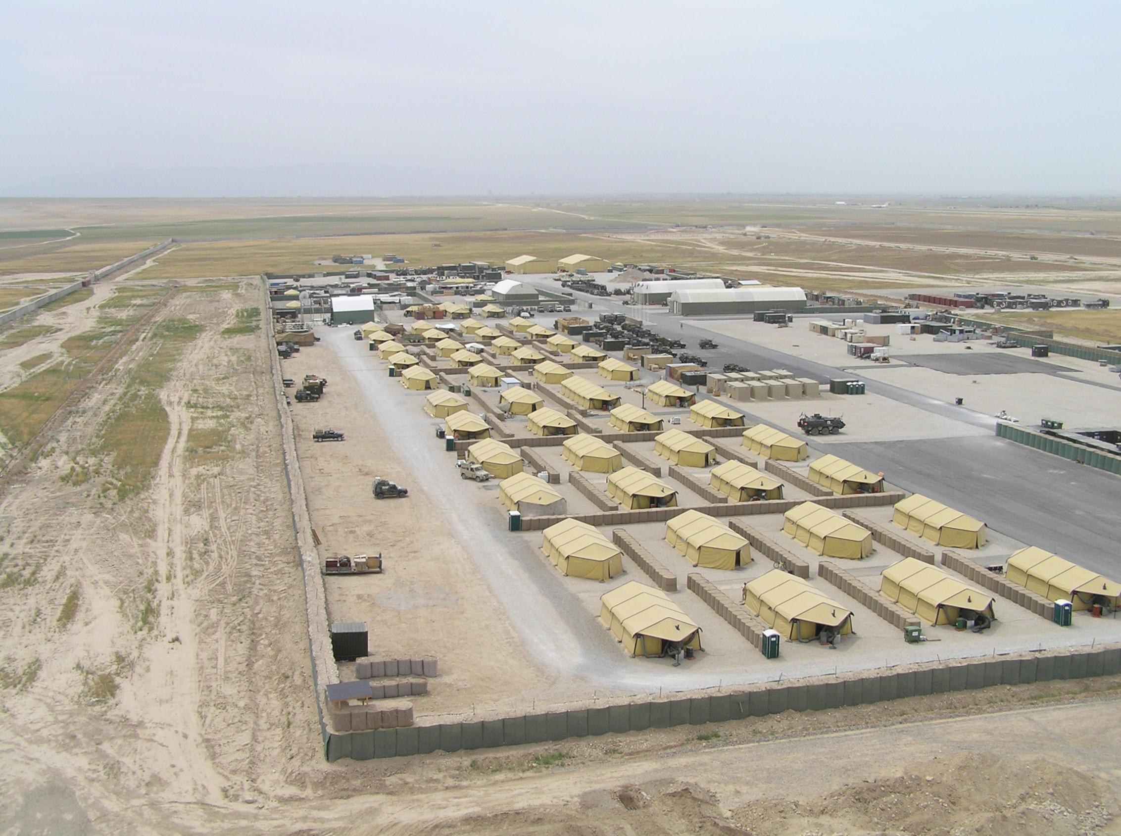 美軍在阿富汗的一處營區