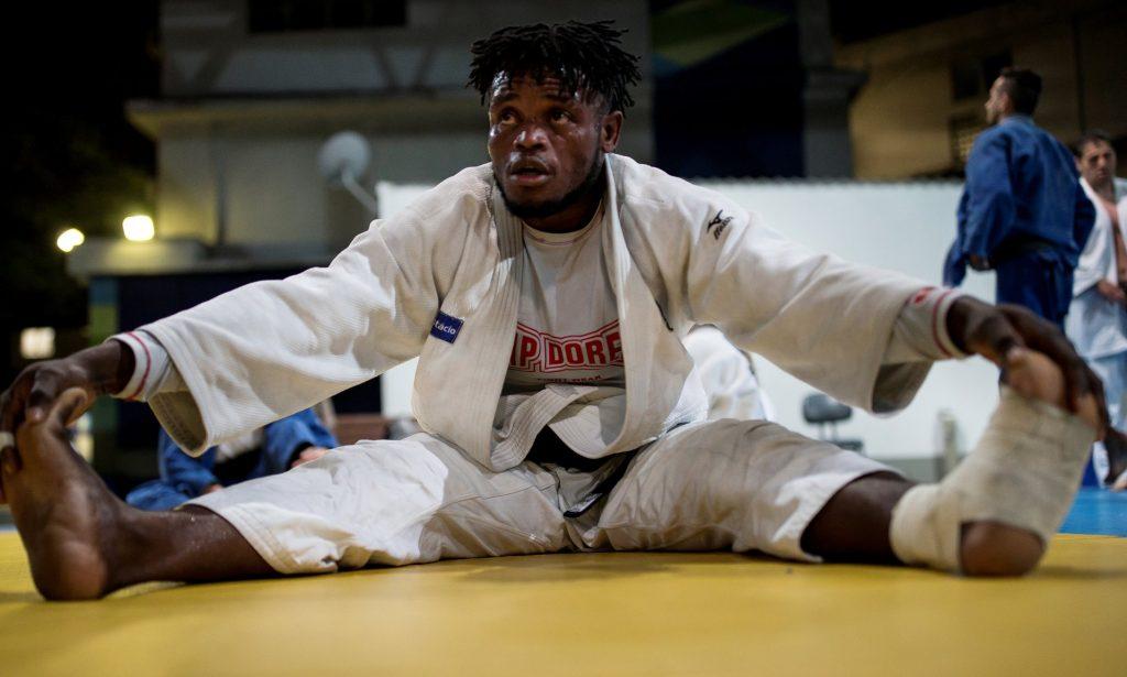 圖:剛果共和國的柔道運動員米森加正為 2016 年里約奧運加緊練習/圖片來源: Buda Mendes/Getty Images