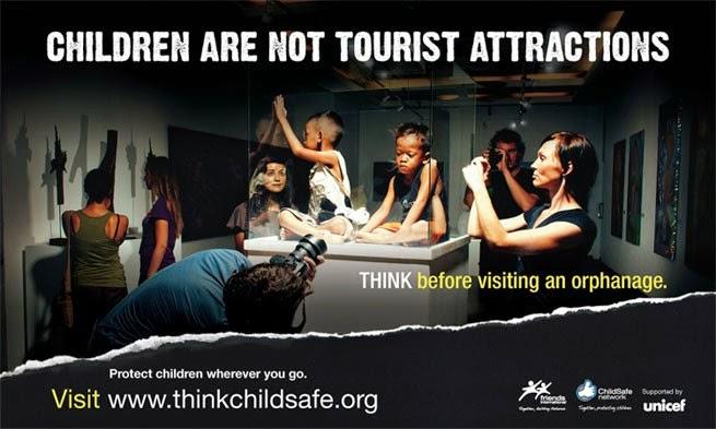「孩童不是觀光景點」:由聯合國兒童基金會(UNICEF)贊助、與英國公益組織 Friends International 合作的「兒童安全」倡議行動