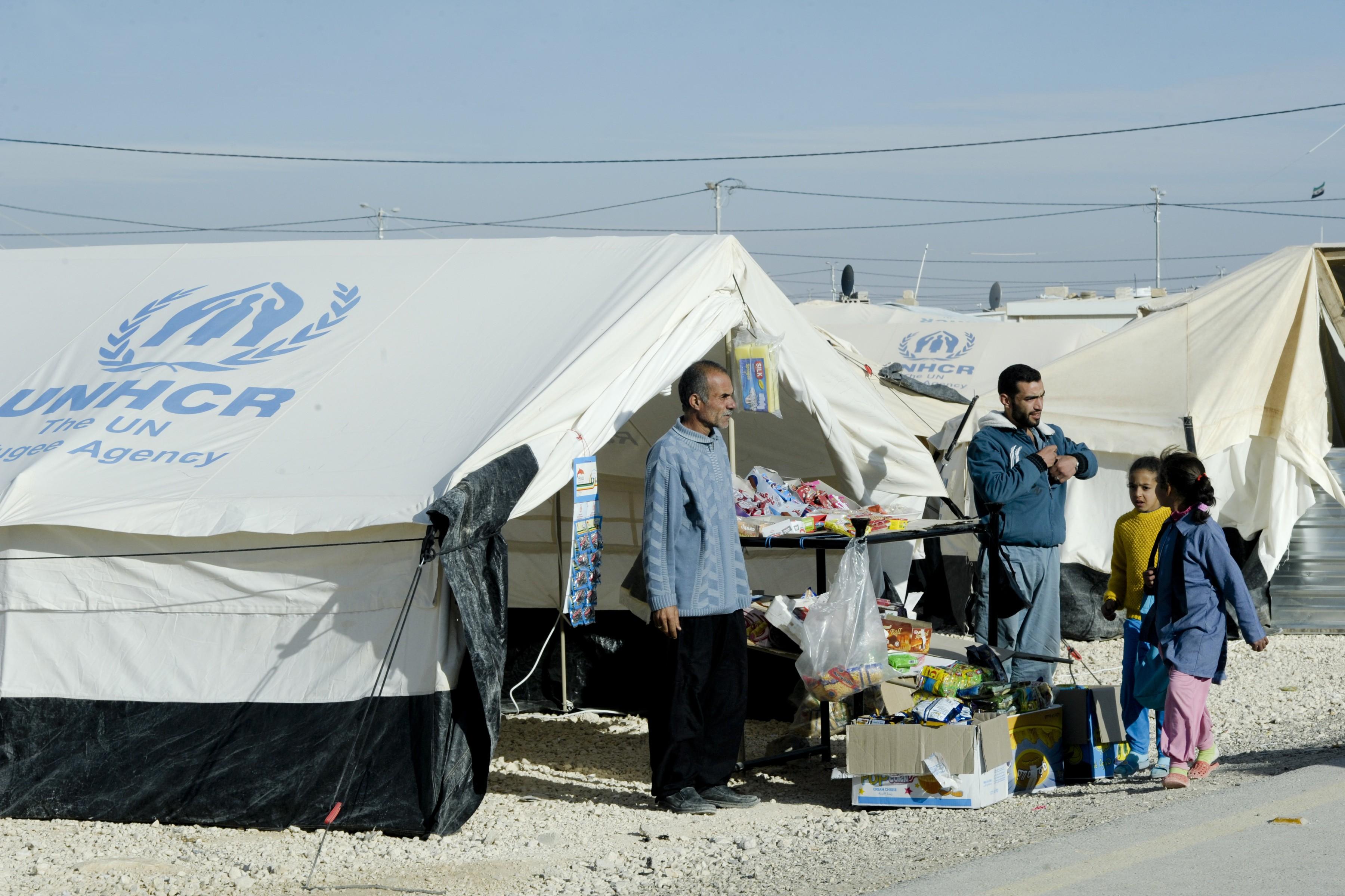 Views of the Zaatri Refugee Camp in Jordan,