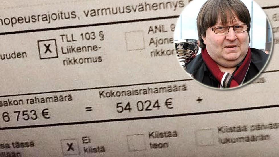 Reima Kuisla 因超速,被罰了 5.4 萬歐元