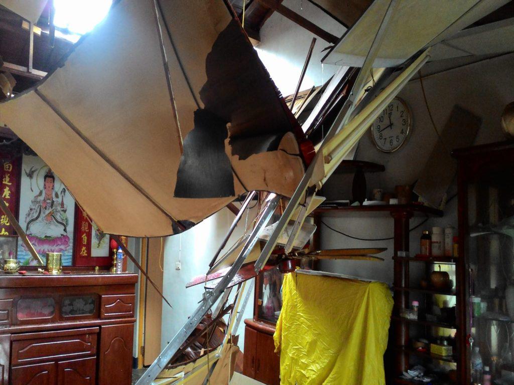 楊維洋大伯家的受災狀況。/圖片提供:楊維洋